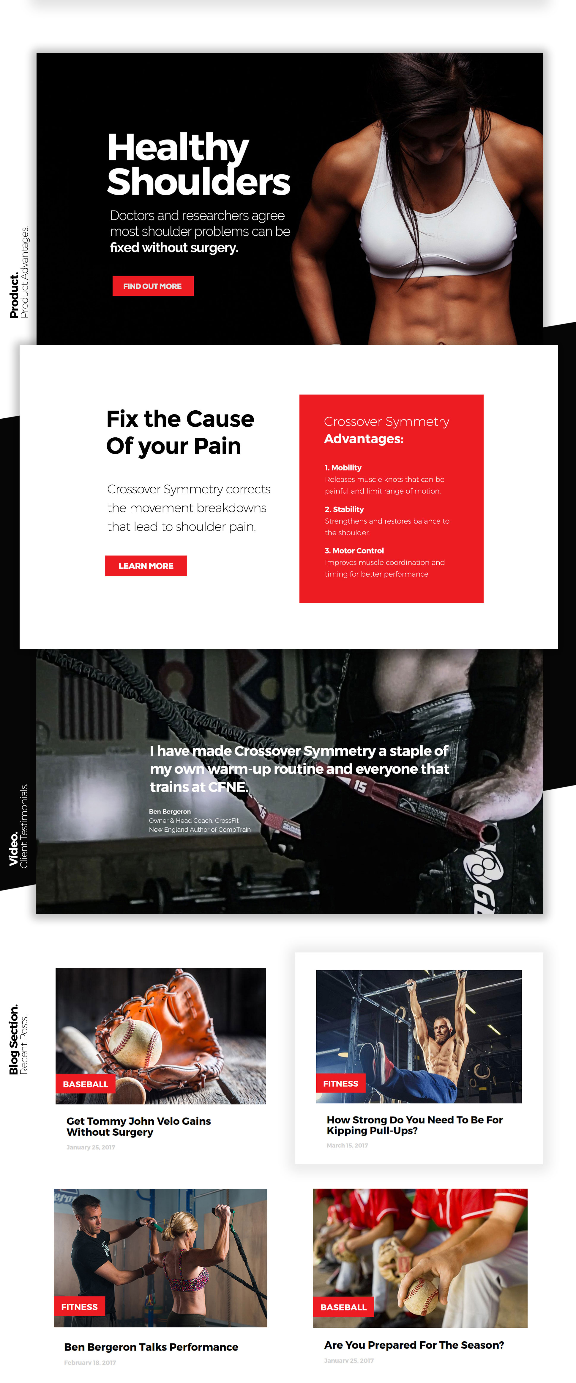 Best Fitness, Sport Web Design by Maciej Olbrycht