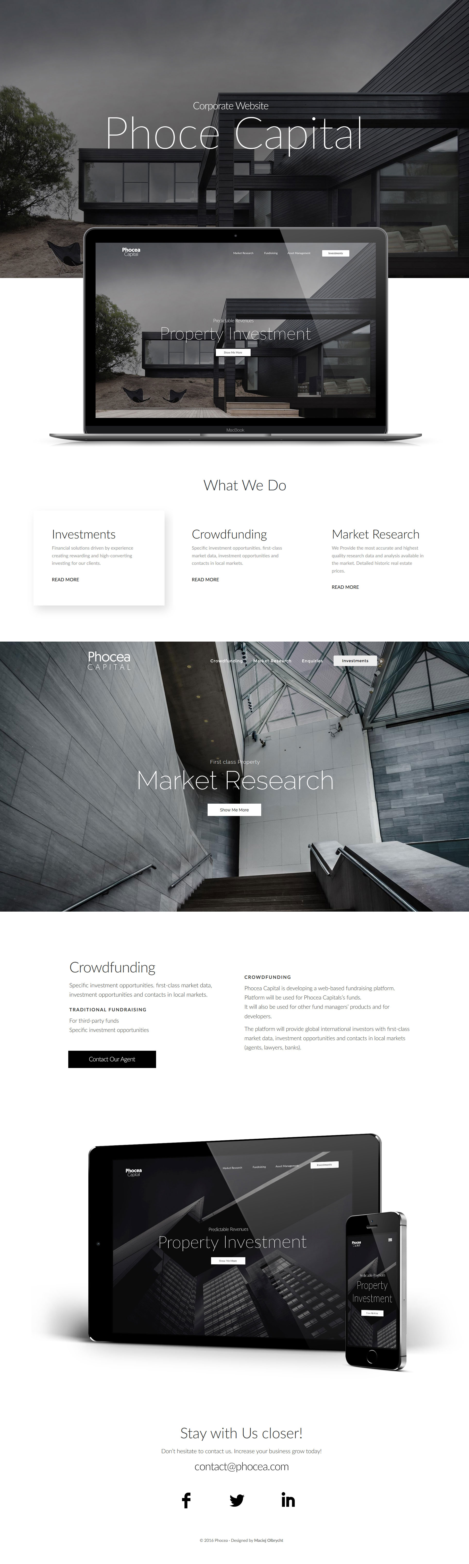 Best Corporate, Finance Web Design by Maciej Olbrycht