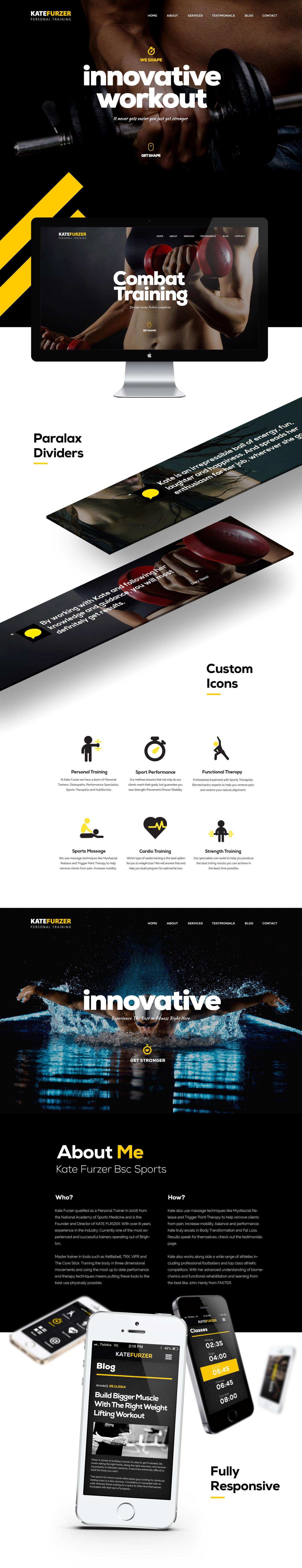 best Fitness, Crossfit webdesign by Maciej Olbrycht
